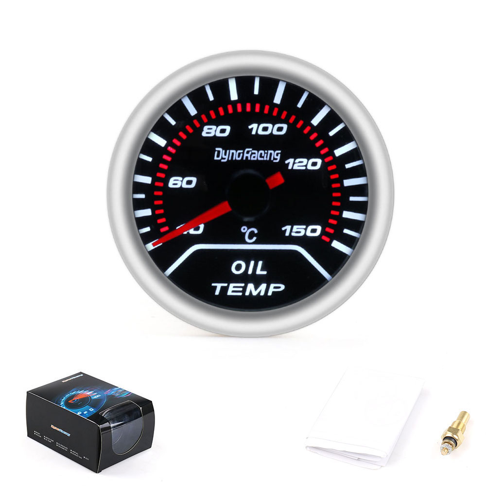 Dynoracing 2inch 52mm Smoke lens Car pointer Oil temp gauge 40-150 Celsius degree Oil Temperature meter car meterDynoracing 2inch 52mm Smoke lens Car pointer Oil temp gauge 40-150 Celsius degree Oil Temperature meter car meter
