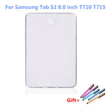 For Samsung Galaxy Tab S2 8.0 Case Matte TPU Gel Silicone Crystal Case Cover For Tab S2 8.0 T710 T715 Tablet Fundas + Pen(China)