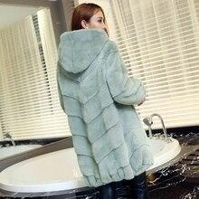 Winter Coat Noble New Full Pelt Natural furs women's fur coats vintage fur vest Warm mink fur coat Down Jackets mink coat women