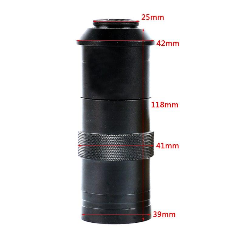 8x-100x zoom ajustável c montagem lente de vidro ampliação ocular para vga hdmi usb ccd cmos indústria microscópio de vídeo câmera