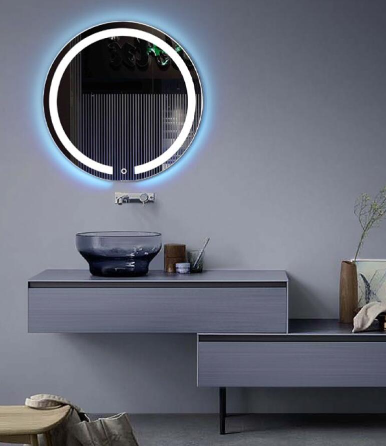 DIYHD Wall Mount Round Led Lighted Bathroom Mirror Vanity Defogger Lights Touch Light Mirror mirror touch synaesthesia