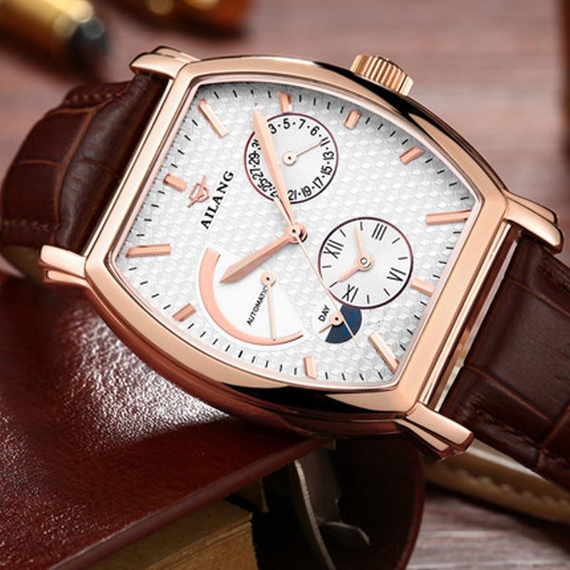 Роскошные Брендовые мужские стальные часы, мужские автоматические механические часы, многофункциональные военные спортивные часы, мужские часы - 2