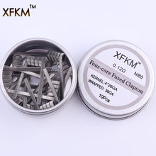 NEW XFKM NI80 High Density Clapton Prebuilt Coils Premade Coil for Electronic Cigarette RDA RTA RBA Atomizer Mod Heating Wire(China)