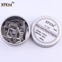 Bobinas de alta densidade xfkm ni80, bobinas pré-construídas para cigarro eletrônico rda atomizador rba mod fio de aquecimento