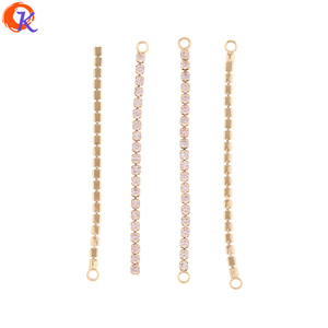 Image 1 - Cordial Design 50Pcs 52MM 56MM Jewelry Accessories/Earring Connectors/DIY Making/Rhinestone Chain/Hand Made/Earring Findings