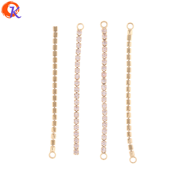 Cordial Design 50Pcs 52MM 56MM Jewelry Accessories/Earring Connectors/DIY Making/Rhinestone Chain/Hand Made/Earring Findings