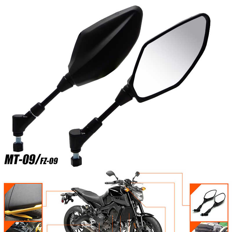Motorcycle Mirror Rearview Mirrors For Yamaha FZ10 MT10 2017 17 XJ6 XJ6-N  2009 2010 2011 2012 2013 MT-25 MT-03 MT25 MT03