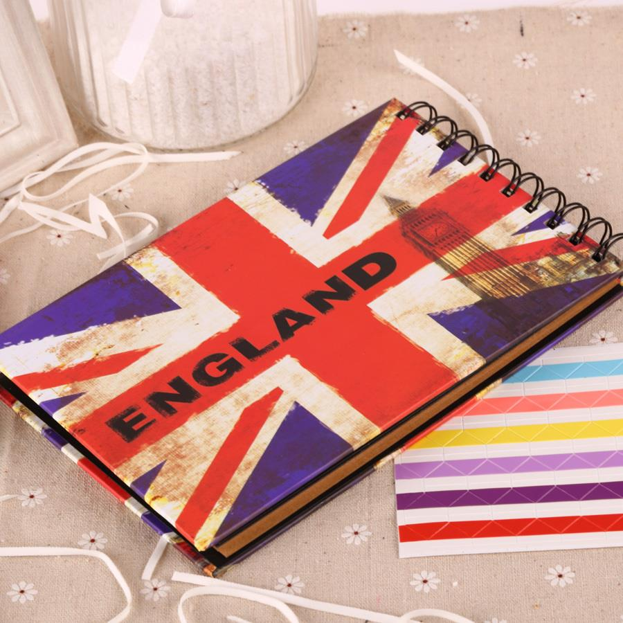 Scrapbook paper england - Album De Fotografia Scrapbooking British Flag Photo Scrapbook Paper Crafts For Baby Wedding Picture Photograph Sticker 6inch In Photo Albums From Home