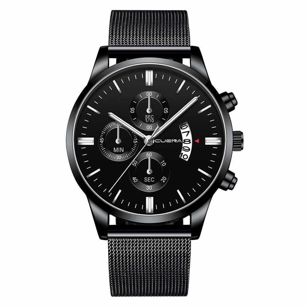 CUENA Wome мужские наручные часы модные спортивные корпус из нержавеющей стали Кварцевые аналоговые Мужские часы quartzo день Дата мужские часы