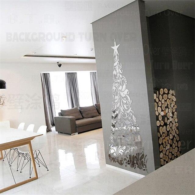 Latest pzset creativo parete d autoadesivo dello specchio elegante albero di natale decorazioni - Decorazioni pareti interne casa ...