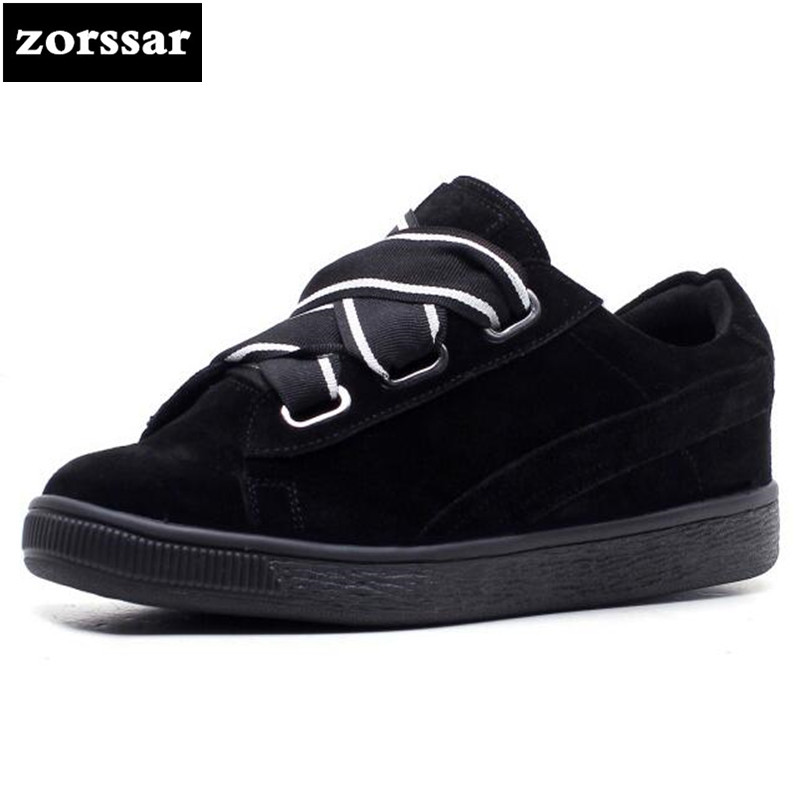 {Zorssar} 2018 spring New Fashion Suede leather shoes Women flats Casual Shoes Comfortable Flat platform Female sneakers shoes minika new arrival 2017 casual shoes women multicolor optional comfortable women flat shoes fashion patchwork platform shoes