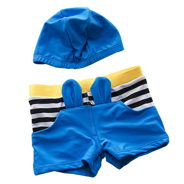 2017 Summer Boys Swimming Boxer Shorts Boy's Swim Trunks 3D Animal Ears Diving Beach Wear for Children Boy