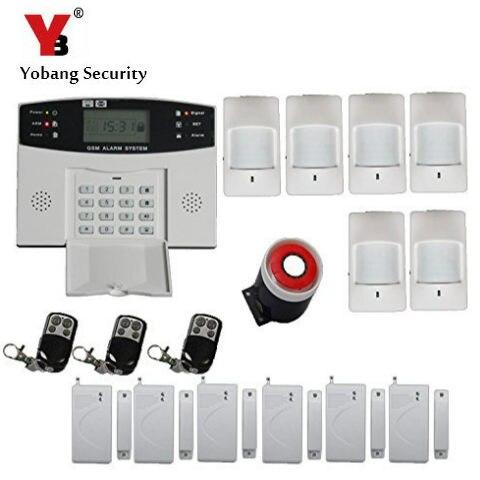 YoBang Sécurité Russe Français Espagnol Prmpot LCD Clavier Accueil Préservatif Pièce D'alarme GSM Sans Fil En Métal Télécommande + PIR Alarme