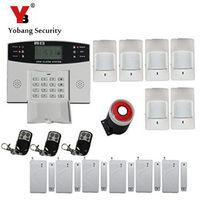 YoBang Security Russian French Spanish Prmpot LCD Keyboard Home Condom Piece Alarm GSM Wireless Metal Remote Control +PIR Alarm
