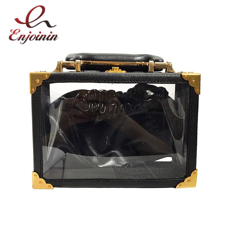 อะคริลิคเย็บ Pu หนัง Retro ออกแบบกล่องแฟชั่นสุภาพสตรีกระเป๋า Totes Crossbody Mini Messenger กระเป๋ากระเป๋าถือ Flap Bolsa-ใน กระเป๋าหูหิ้วด้านบน จาก สัมภาระและกระเป๋า บน AliExpress - 11.11_สิบเอ็ด สิบเอ็ดวันคนโสด 1