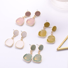 New Womens Series Earrings Geometric Irregular Round Square Pendant Gifts Fashion Accessories Multicol