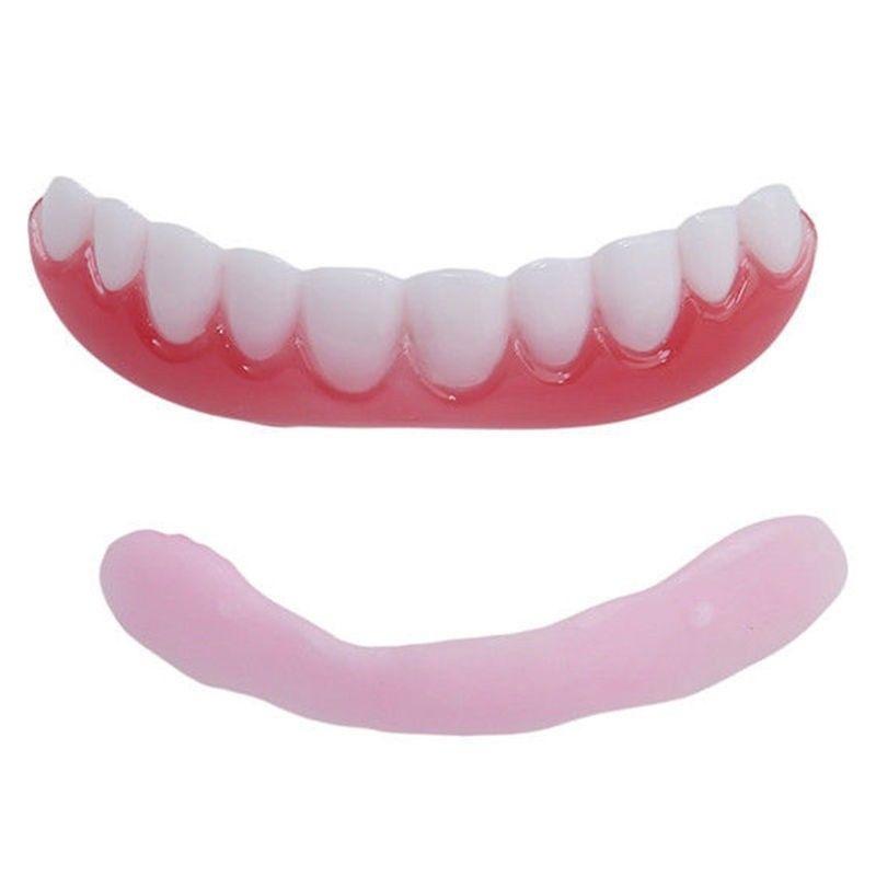 Whitening Denture Sleeve Teeth Whitening Instant Smile Comfort Fit Flex Teeth Top Cosmetic Veneer One Size Universal