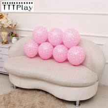 10pcs 12inch Romantic Five-pointed Star Latex Pink Balloons Inflatable Air Balls Wedding Decoration Happy Birthday Party Balloon