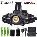 Litwod Z932808 Original XLamp XHP70.2 4292lm O best brightest LED 32 W zoom faróis Led potente lanterna lâmpada de cabeça lanterna
