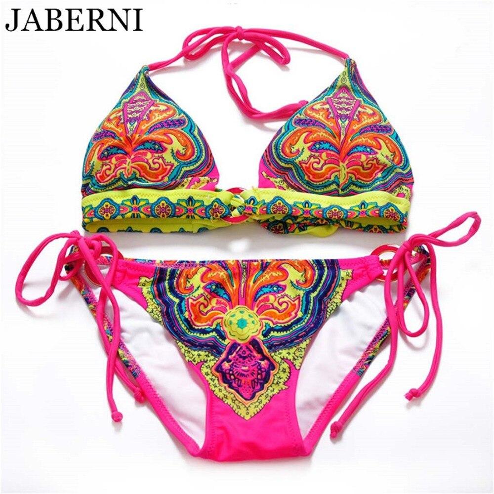 JABERNI brand bikini 2018 sexy swimsuit women swimwear padding summer bikinis beach wear bathing suits print bikini set RS093 hengscarying brand 2018 women sexy