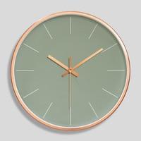 12 인치 로즈 골드 벽시계 현대 미니멀리스트 라운드 시계 플라스틱 벽시계 음소거 석영 시계 홈 장식