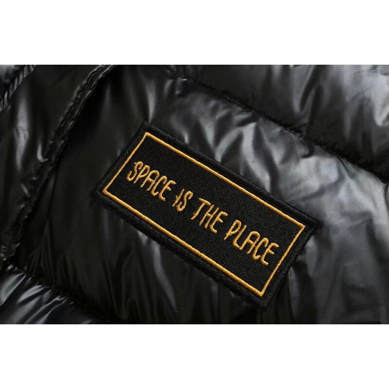 Filles Veste Coton Parkas Puffer Noir Parka Grande Lumineux Anorak D'origine Femmes Manteaux Rembourré Oversize 2019 Taille Bling 0gnOv