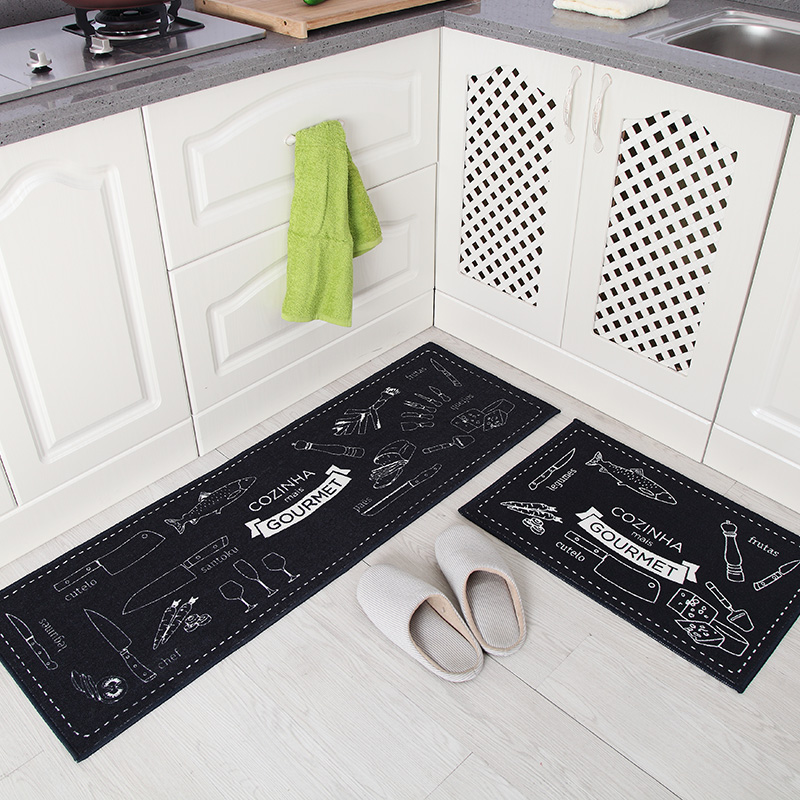 long kitchen rugs best undermount sink 40x60cm 40x120cm set mat anti slip bathroom carpet absorb water home entrance doormat