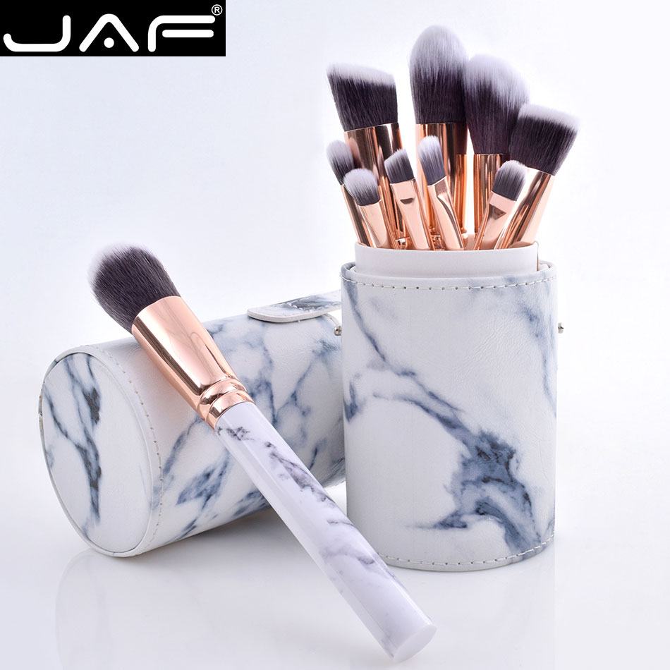 c96e2acc47178 Las Fuerzas Armadas Jordanas 10 piezas de mármol maquillaje cepillo ...