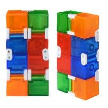 Красочный кубик пластиковый бесконечный куб для снятия стресса Антистресс смешные игрушки EDC для детей