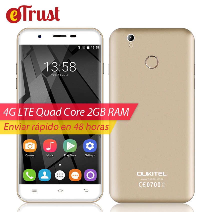 Oukitel U7 Plus Mobile Phone 5 5 Inch HD 1280x720 MTK6737 Quad core Android 6 0