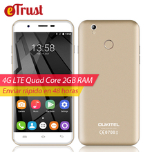 Oukitel U7 Plus Mobile Phone 5.5 Inch HD 1280×720 MTK6737 Quad core Android 6.0 2GB RAM 16GB ROM 8MP Fingerprint 4G Smartphone