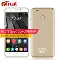 U7 Oukitel Plus Mobile Phone 5.5 Polegada HD 1280x720 MTK6737 Quad núcleo Android 6.0 2 GB RAM 16 GB ROM 8MP Fingerprint 4G Smartphone