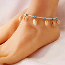 New Fashion Beads Shell Anklets for Women Summer Beach Stone Personality Ankle Bracelets Bohemian Foot Jewelry