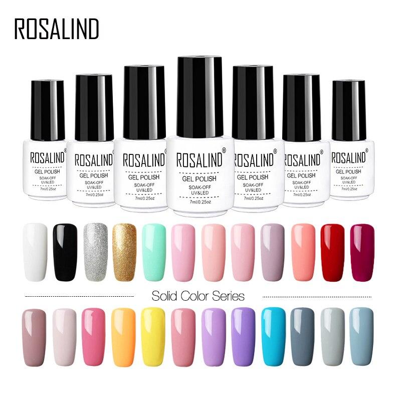 ROSALIND Gel nail art Polonais Vernis Pour Manucure UV Couleurs Vernis Semi Permanent Hybride Vernis à ongles Set Gel Lak Top Primer Base