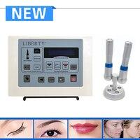 Profesjonalne Liberty dermographe maquillage cyfrowy permanentny makijaż permanentny brwi tattoo machine kit z 50 sztuk igły