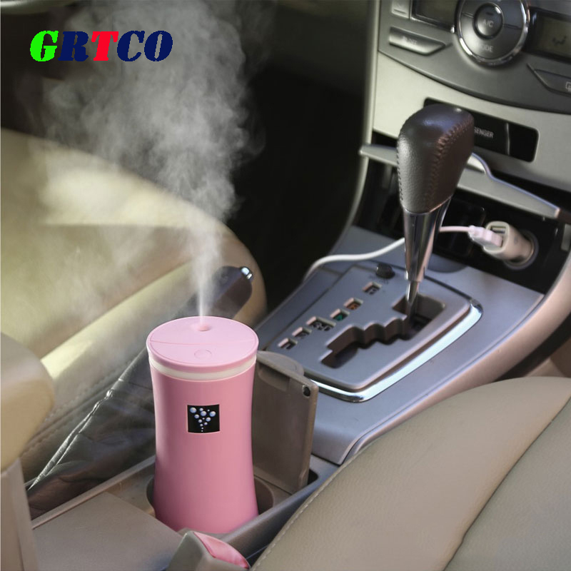 GRTCO Essential Oil Diffuser Car Air Humidifier 230ML USB 5V 3Colors Ultrasonic Mist Make Oil Diffuser Aromatherapy Car Purifier