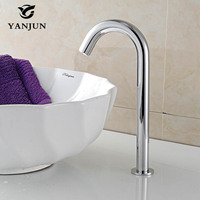 Yanjun Automatic Faucet Inductive Hands Free Sensor Tap Water Saving Hospital Bathroom Public Sanitaryware YJ 6618