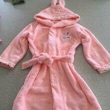2 цвета: розовый и синий; Банное полотенце с капюшоном для малышей; банный халат; детская пижама