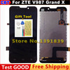 Original ZTE V987 LCD Screen Digitizer + Touch Screen For ZTE V987 ZTE Grand X V987 Quad LCD Screen + Free Shipping