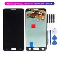 AAA Качество 100% тест для samsung Galaxy A3 2015 A300 A3000 A300F A300M ЖК-дисплей кодирующий преобразователь сенсорного экрана в сборе Замена