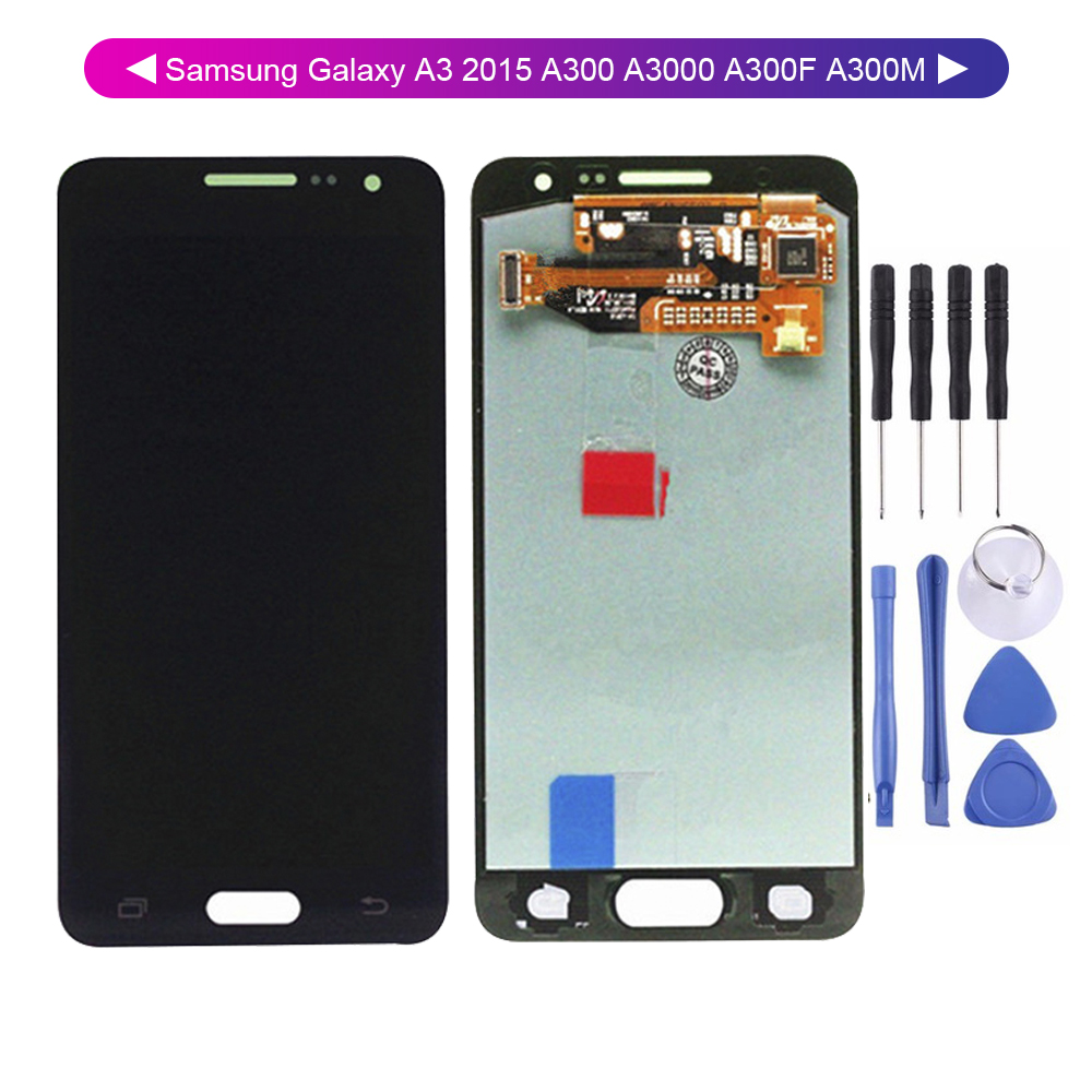 AAA <font><b>Lcd</b></font> TFT For <font><b>Samsung</b></font> Galaxy A3 2015 <font><b>A300</b></font> A3000 A300F A300M <font><b>Lcd</b></font> Display Touch Screen Digitizer Assembly Replacement image