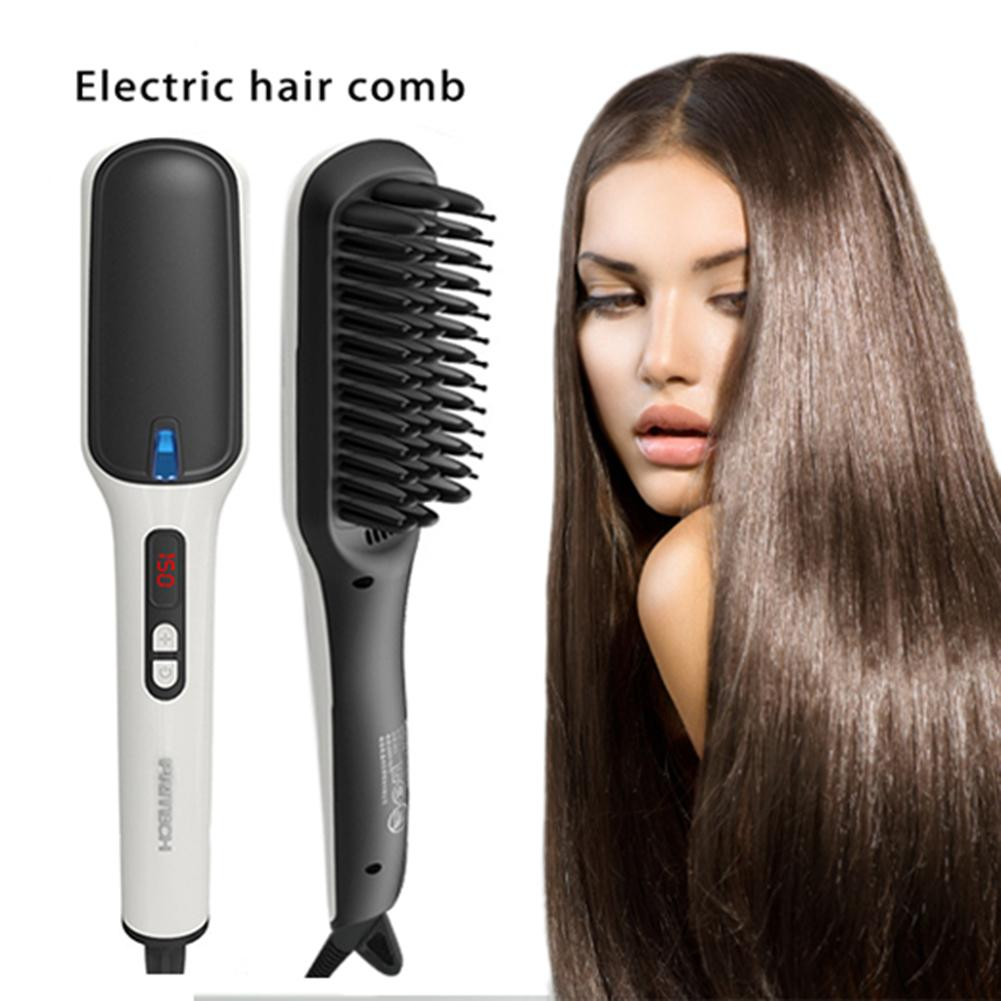 Men s Beard Hair Straighteners Ion Beard Straight Heating Comb Electric Hair Combs Unisex Styling Comb
