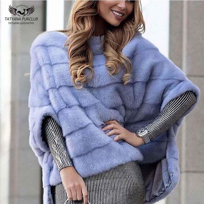 Tatyana furclub Real Fur Coat Pink Fur Natural Mink Fur Coat Winter Fur Jacket For Women Casual Tops O-Neck Full Pelt Plus Size