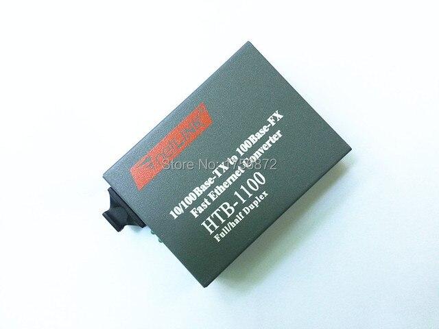 HTB-1100 Optical Media Converter 10/100Mbps RJ45 Multi-Mode Duplex Fiber SC port Converter 2KM