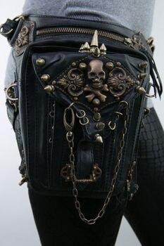 Exclusive Gothic Steampunk Retro Rock Unisex Bag Belt Pouch Travel Pocket Purse