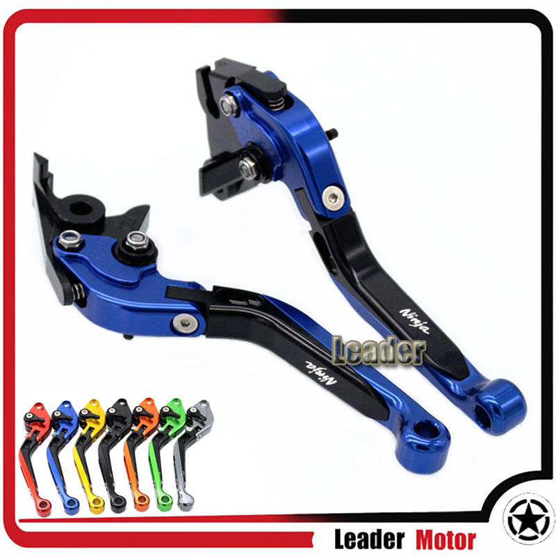 ФОТО For KAWASAKI ZX6R/ZX636R/ZX6RR ZX10R Z1000 VERSYS 1000 ZZR600 ZX9R ZX12R Motorcycle Folding Extendable Brake Clutch Levers Blue