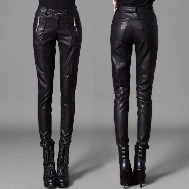 De Slim Patchwork Cuir Moto Chanteur Vêtements Femmes Noir Maigre Printemps Pantalon Hot 2019 Mode Sarouel En Costumes qEgpw01w