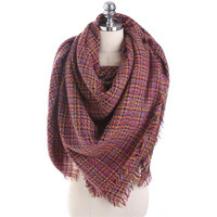 Luxury Brand Autumn Winter Fashion Scarf Women Solid Color Cashmere Warm Scarves Shawl Large Size Fashion