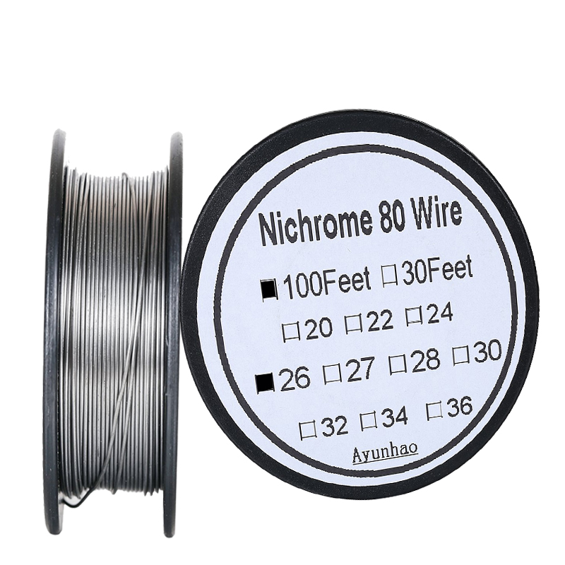 Nichrome 80 wire 26 Gauge AWG Stainless Steel Resistance Wire 0.4 mm 100ft use High temperature resistance / long life Heating|Cable Winder| |  - title=