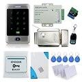 Conjunto completo impermeable C30 + cerradura eléctrica de control de acceso de bloqueo de control + fuente de alimentación + botón de salida + 10 unids tarjetas llave + control remoto